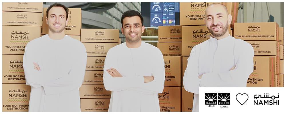 كلمه فريق نمشي بعد استحواز إعمار مولز تستحوذ على 51% من متجر نمشي Namshi