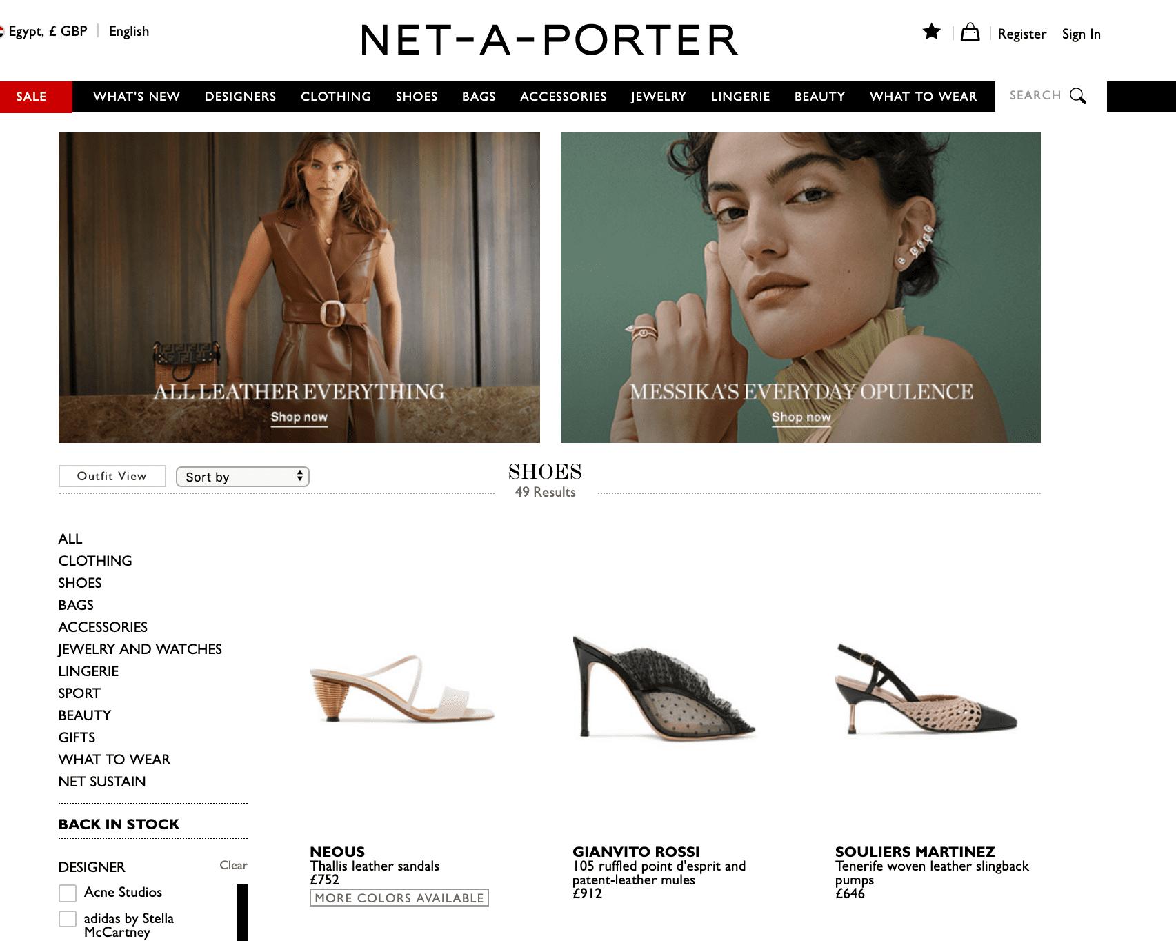 دليل التسوق لموقع نت-أ-بورتر لتسويق المنتجات الفاخرة عبر الإنترنت net-a-porter