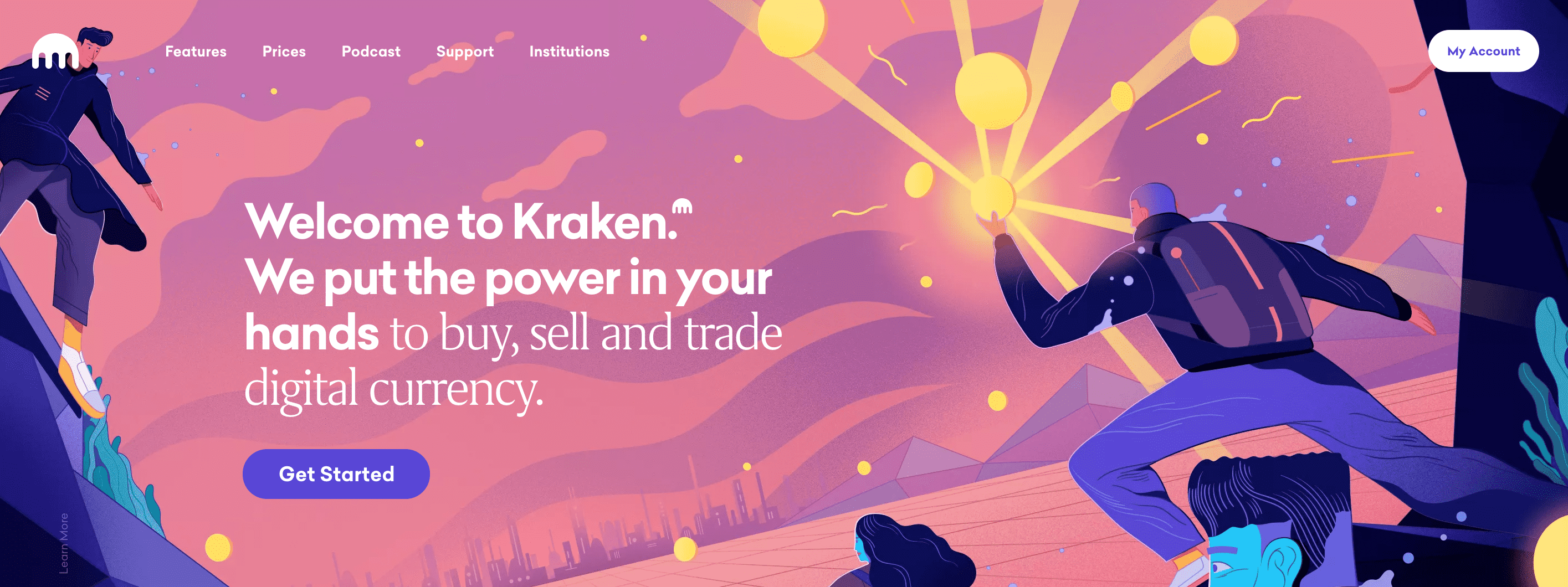Kraken. We put the power in your hands to buy, sell and trade digital currency.